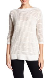 Kinross Cashmere Pointelle Boatneck Sweater Multi
