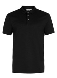 Topman Black Polo Neck T Shirt