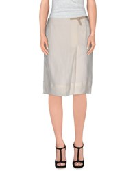 Fabiana Filippi Skirts Knee Length Skirts Women White