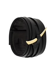 Shaun Leane 'Sabre' Leather Cuff Black