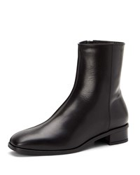 Aquatalia By Marvin K Lucie Leather Booties Espresso