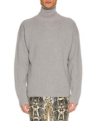 Tom Ford Wool Turtleneck Sweater Light Gray