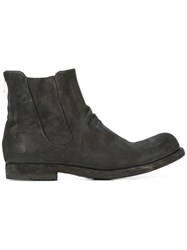 Officine Creative Back Zip Ankle Boots Black