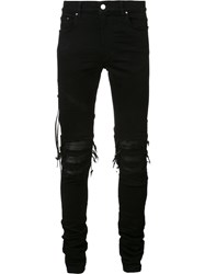 Amiri Ripped Slim Fit Jeans Black