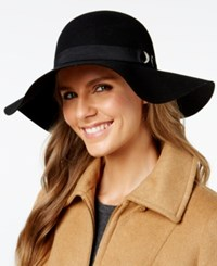 Nine West Bow And Grommet Floppy Hat Black
