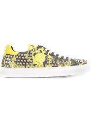 Philipp Plein 'Roll Over' Sneakers Yellow And Orange