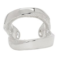 Pearls Before Swine Silver Cuff Ring