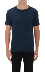 Theory Men's Gaskell Cotton T Shirt Navy
