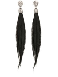 Dsquared Fur Clip On Earrings Black