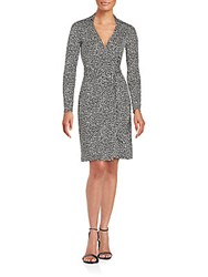 Diane Von Furstenberg New Jeanne Wrap Dress Petite Leopard