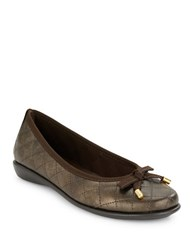 The Flexx Bon Gout Quilted Ballet Flats Bronze