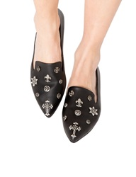 Pixie Market Owen Cross Pointed Loafers