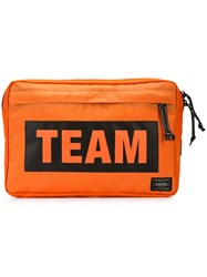 Neighborhood Team Shoulder Bag Orange