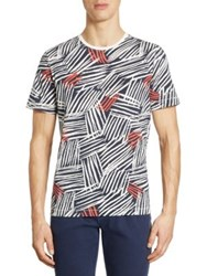 Madison Supply Allover Graphic Print Tee Spiced Coral