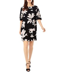 Phase Eight Selina Floral Print Swing Dress Black Nude