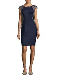 Jax Pleated Sheath Dress Navy Shell