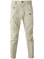 Dsquared2 Cargo Cropped Trousers Nude Neutrals