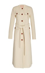 Brock Collection Cara Cotton Trench Coat White