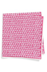Southern Tide Whitefield Floral Cotton And Silk Pocket Square Pink