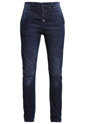 M A C Mac Laxy Relaxed Fit Jeans Middark Stone Blue Denim