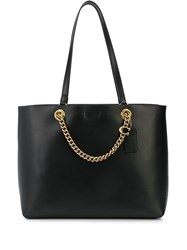 Coach Signature Chain Tote Bag Black