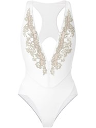 La Perla 'Dreamland' Non Wired Swimming Costume White