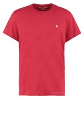 Abercrombie And Fitch Muscle Fit Basic Tshirt Burg Bordeaux