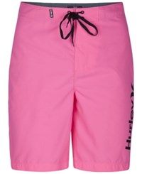 Hurley Men's One And Only Boardshorts Neon Pink