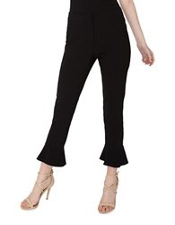 Miss Selfridge Banded Waist Cropped Pants Black