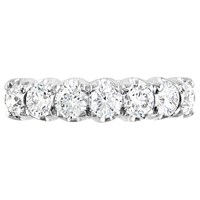Ewa 18Ct White Gold Diamond Half Eternity Ring 1.06Ct