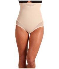 Miraclesuit Shapewear Extra Firm Sexy Sheer Shaping Hi Waist Brief Nude Underwear Beige