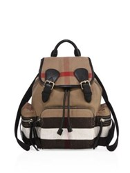 Burberry Medium Check Canvas Backpack Classic Check