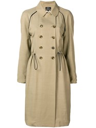 A.P.C. Jackie Trench Coat Nude And Neutrals
