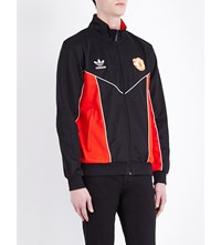 Adidas Manchester United Fc Cotton Blend Jacket Red