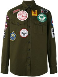 Dsquared2 Patched Military Shirt Green
