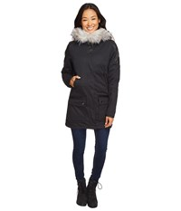 Spyder Helix Faux Fur 321 Parka Black Black 1 Women's Coat