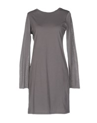 Lo Not Equal Short Dresses Dove Grey