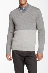 Apolis Co Op V Neck Sweater Gray
