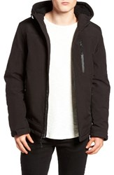 Black Rivet Men's Quilt Lined Hooded Parka