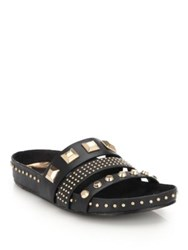 Ivy Kirzhner Tank Studded Leather Slides