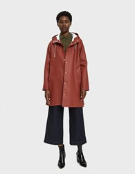 Stutterheim Mosebacke Rain Jacket In Barn Red