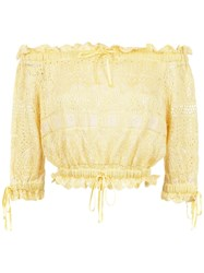Cecilia Prado Off The Shoulder Andresa Blouse Yellow