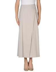 Oblique Long Skirts Light Grey