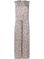 Christian Wijnants Bamboo Printed Jumpsuit Neutrals
