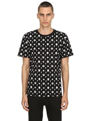 Hydrogen Printed Cotton Jersey T Shirt Black
