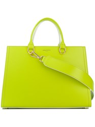 Emilio Pucci Embossed Logo Tote Green
