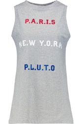 Etre Cecile Flocked Cotton Tank Gray