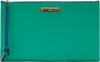 Chloe Jade Green Colorblock Leather A5 Clutch