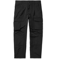 Givenchy Black Tapered Taffeta Cargo Trousers Black