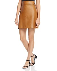 French Connection Goldenburg Leather Skirt Terra Tan